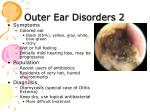 outer ear disorders 2