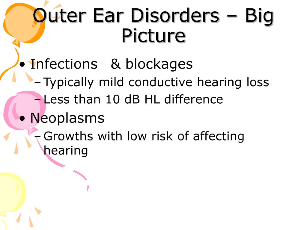 Outer Ear Disorders – Big Picture