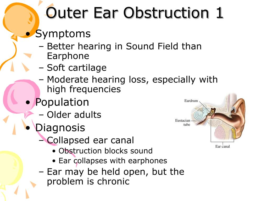 Outer Ear Obstruction 1