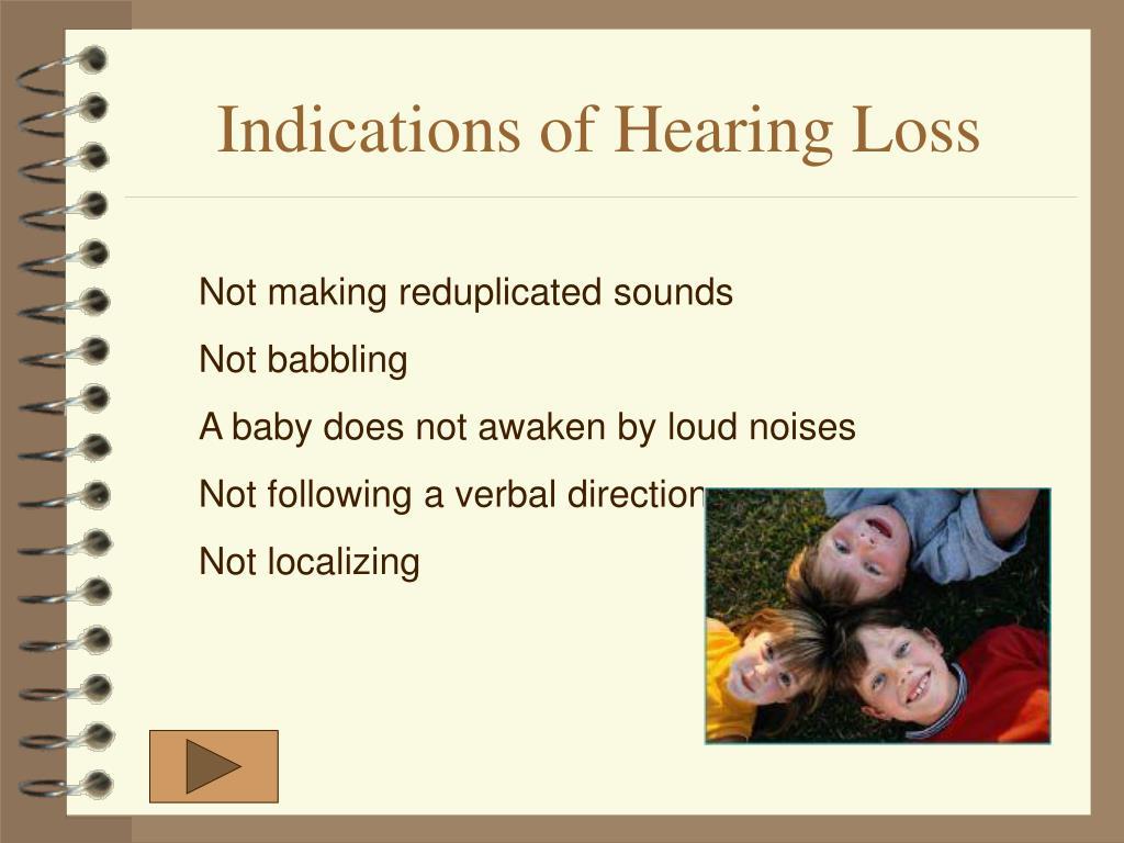 Indications of Hearing Loss