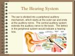 the hearing system
