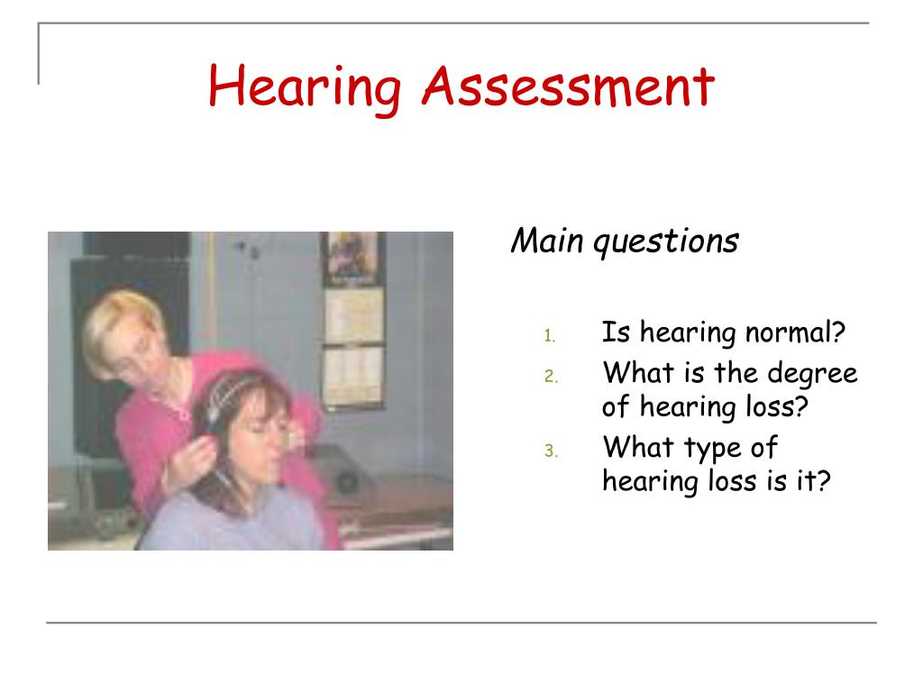 Hearing Assessment