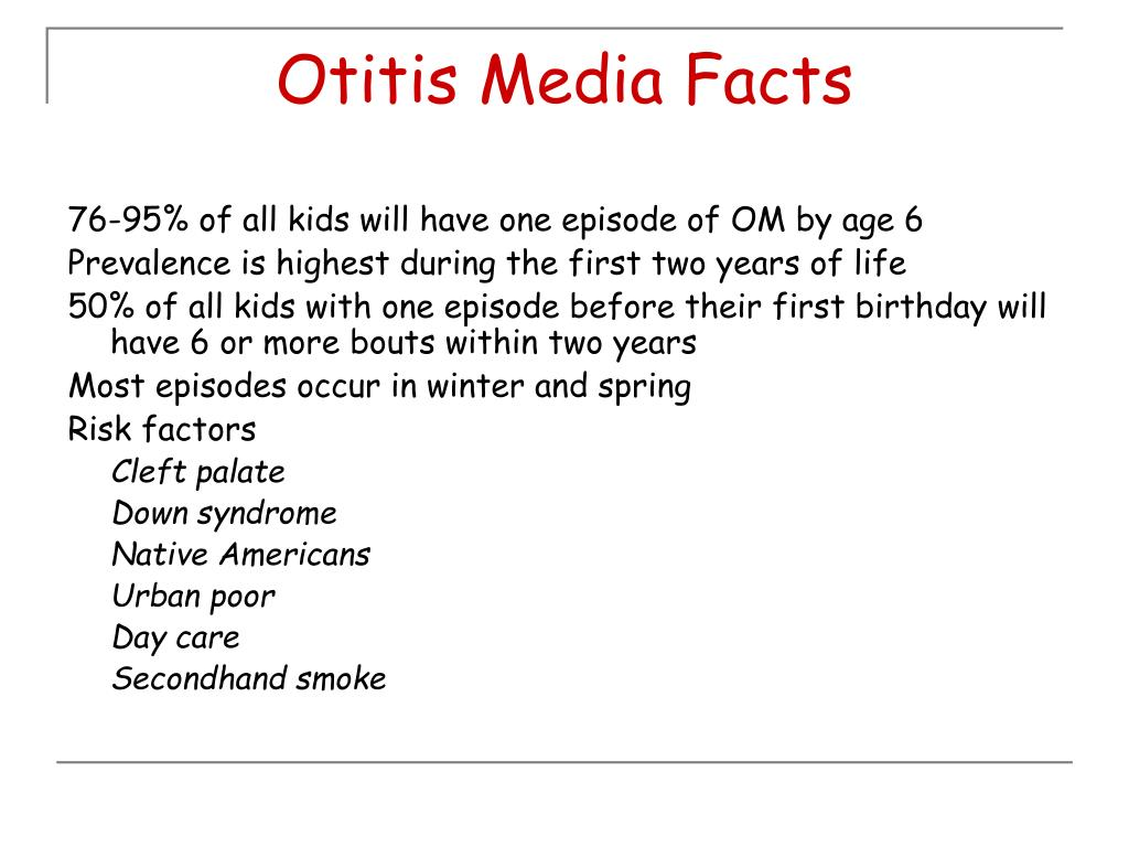 Otitis Media Facts