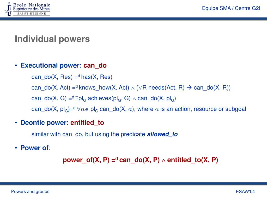 Individual powers
