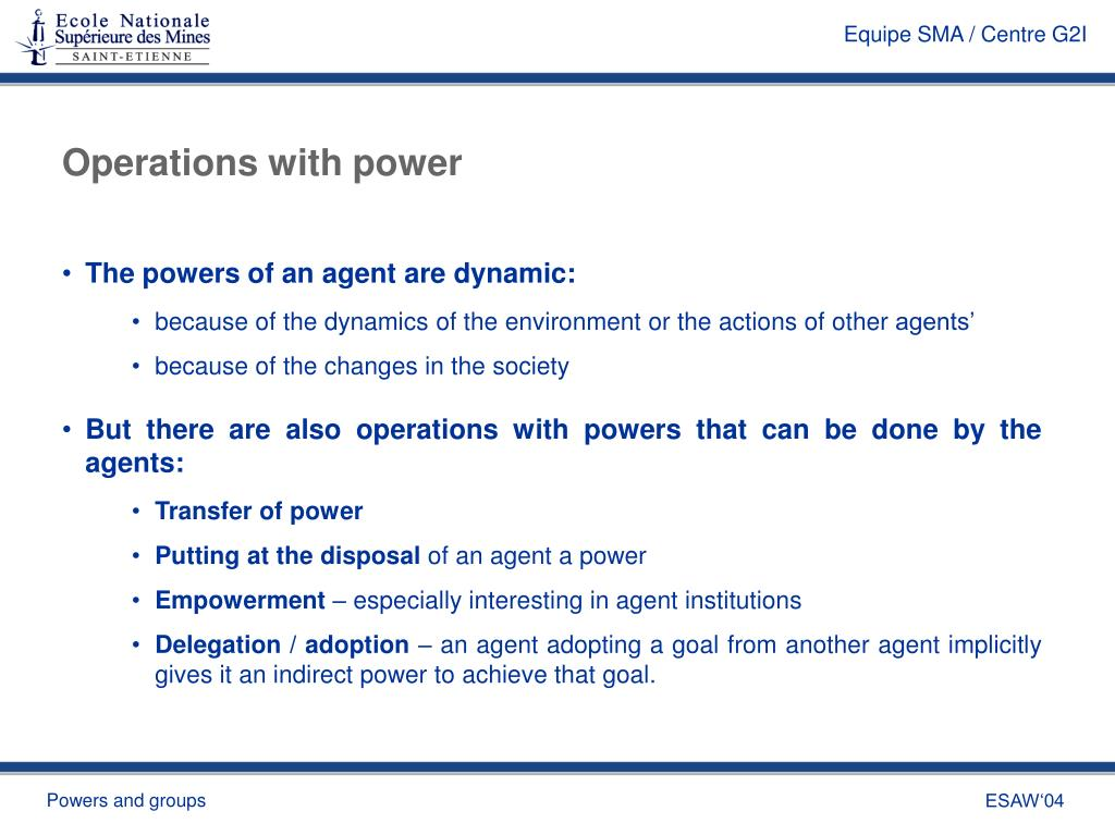 Operations with power