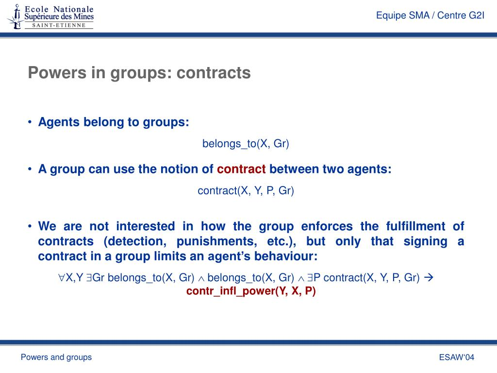 Powers in groups: contracts