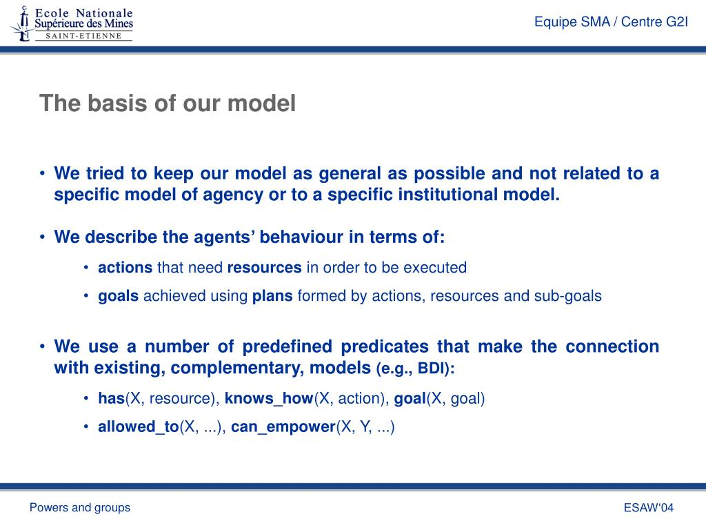 The basis of our model