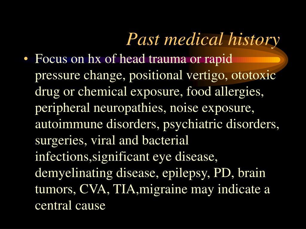 Past medical history