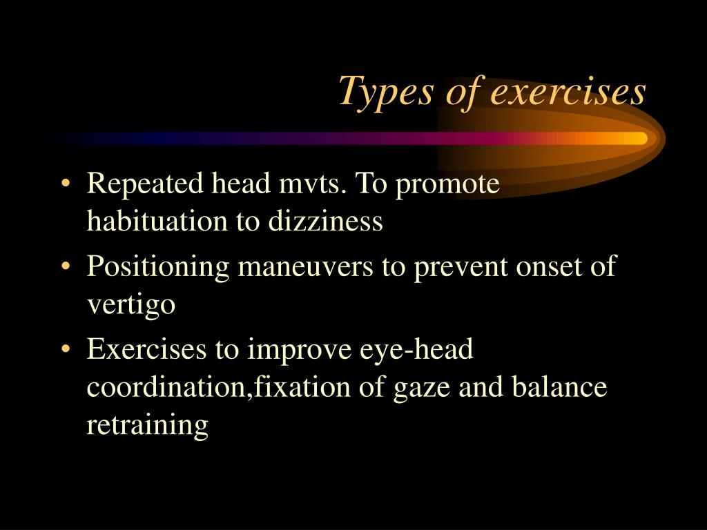 Types of exercises