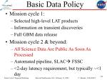 basic data policy