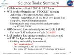 science tools summary