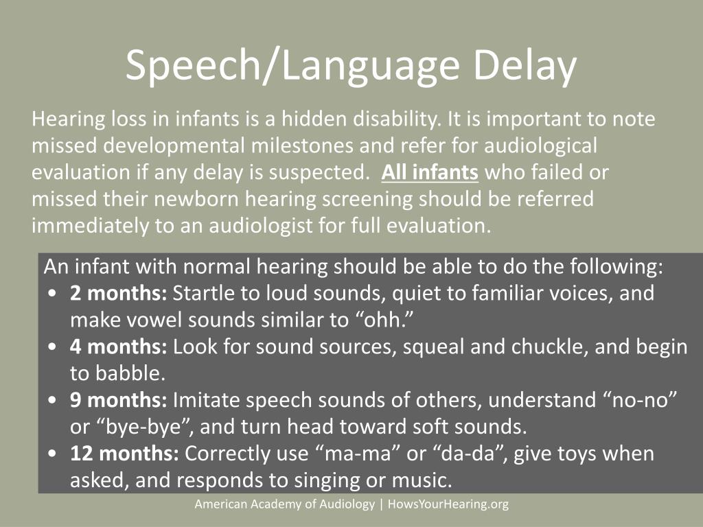 Speech/Language Delay