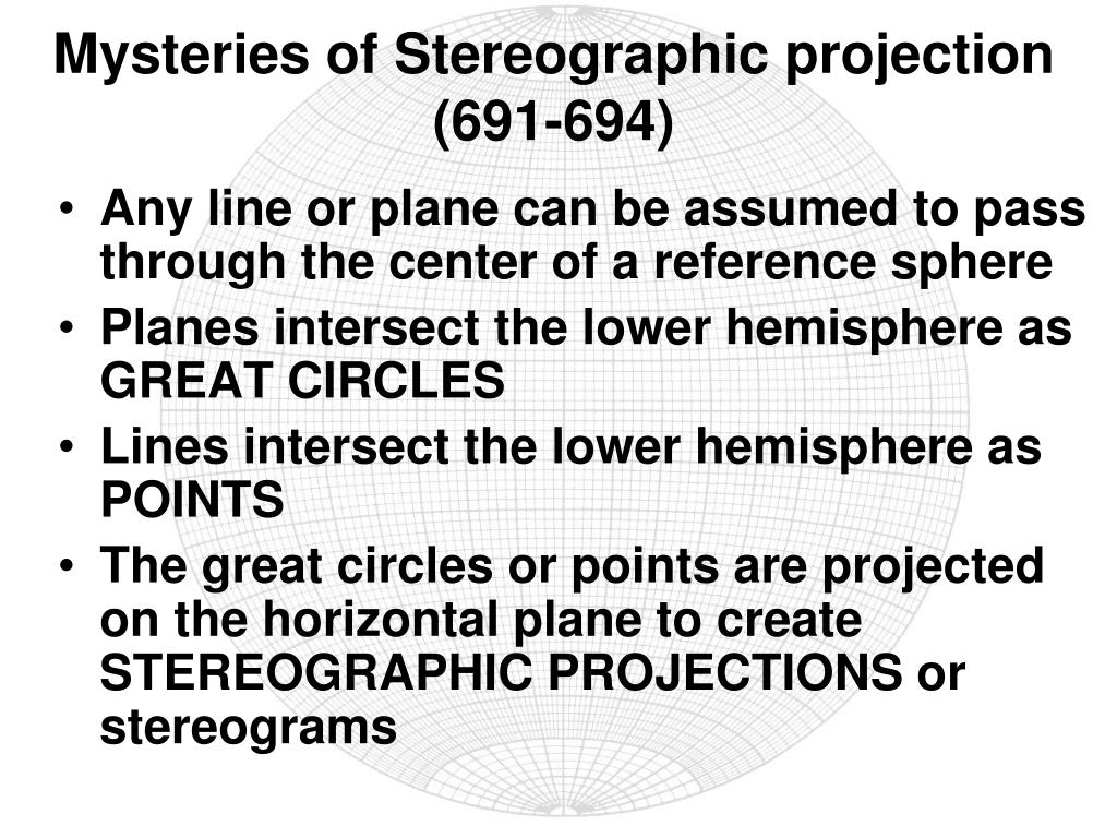 Mysteries of Stereographic projection (691-694)