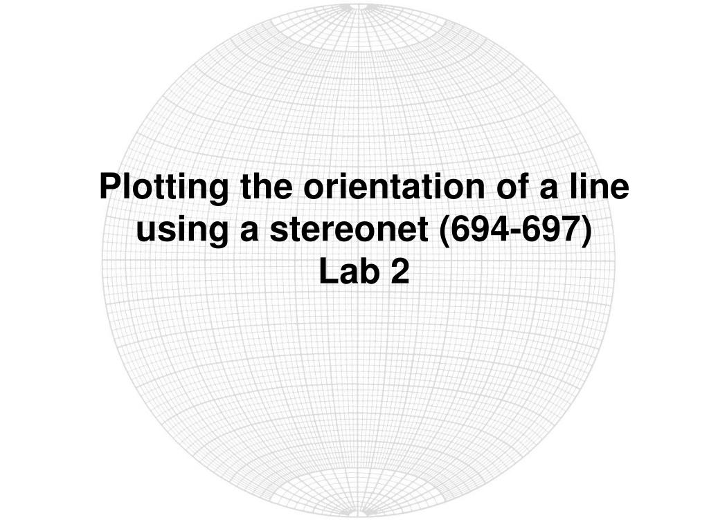 Plotting the orientation of a line using a stereonet (694-697)