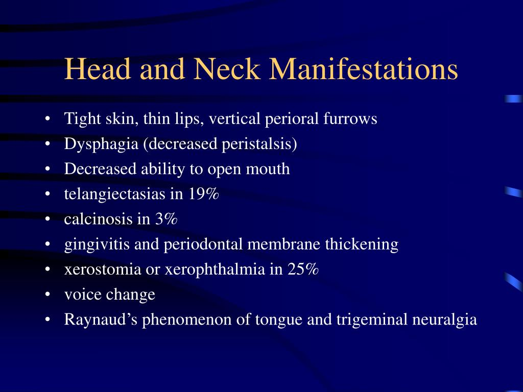 Head and Neck Manifestations