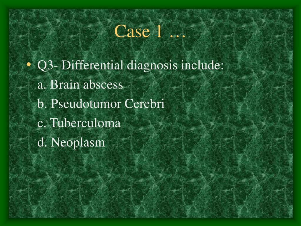 Case 1 …