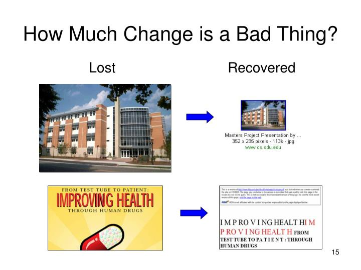 How Much Change is a Bad Thing?