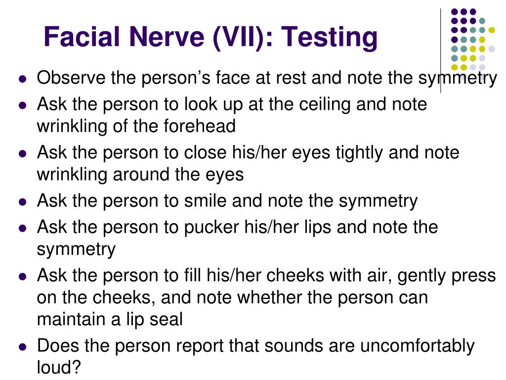 Facial Nerve (VII): Testing