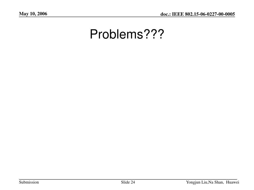 Problems???