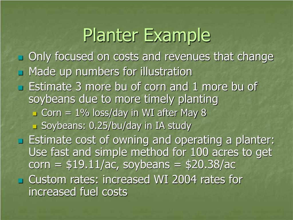 Planter Example