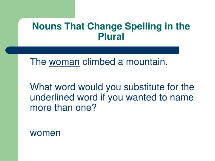 Nouns that change spelling in the plural3 l.jpg