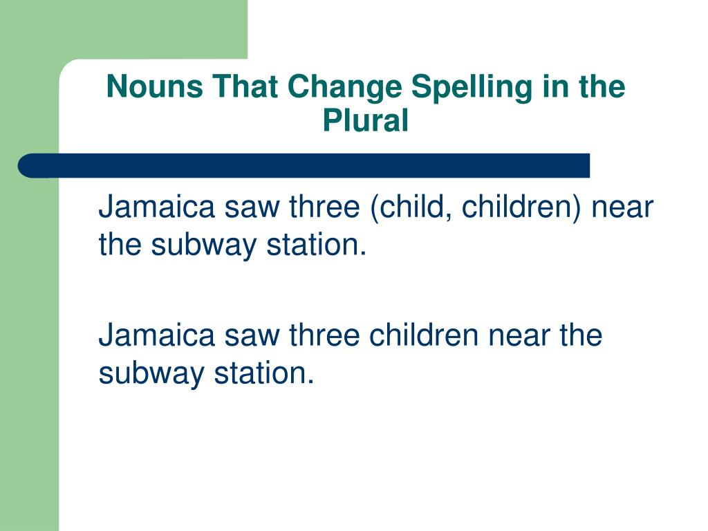 Nouns That Change Spelling in the Plural