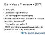 early years framework eyf