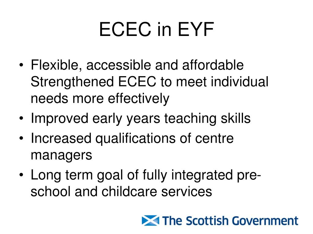 ECEC in EYF