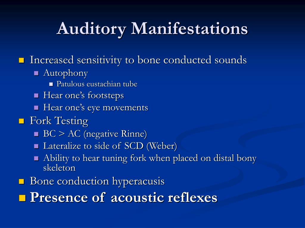 Auditory Manifestations