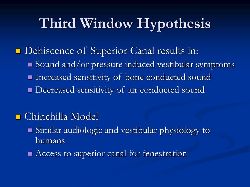Third Window Hypothesis