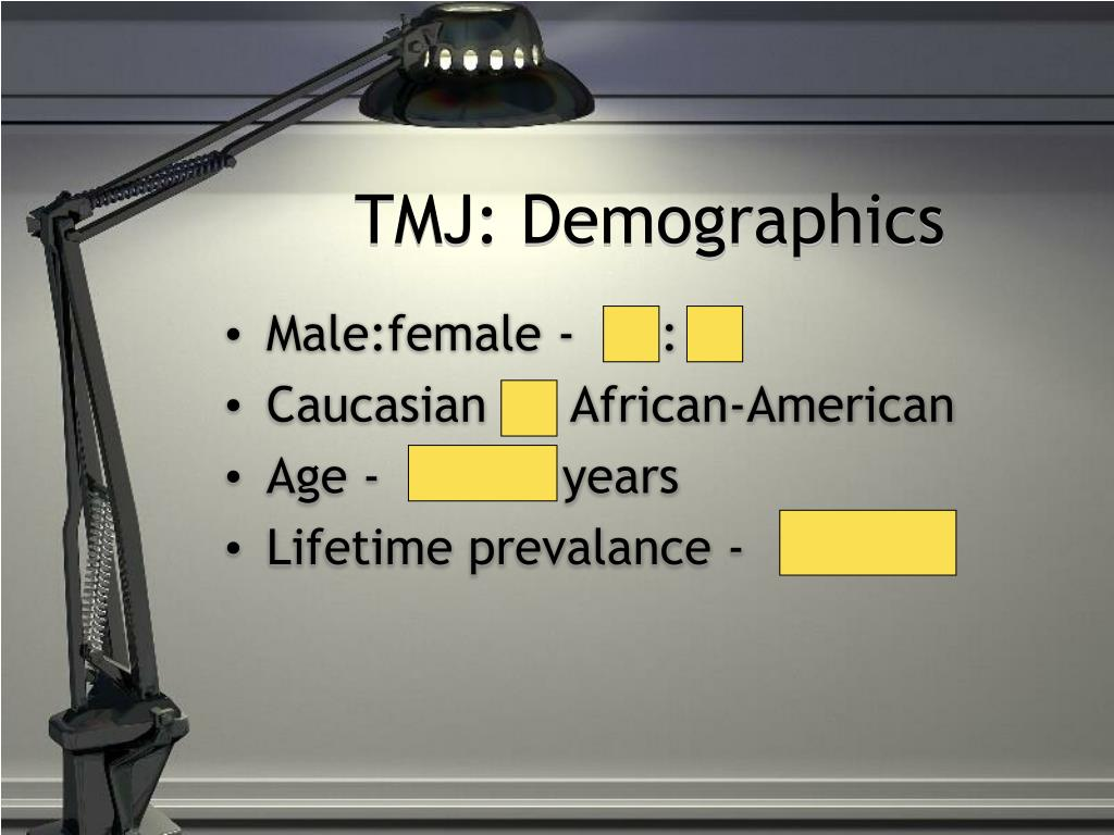 TMJ: Demographics