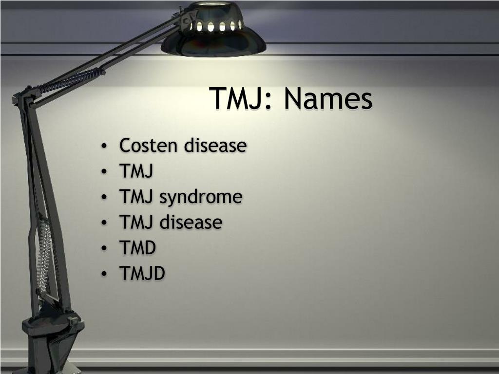 TMJ: Names