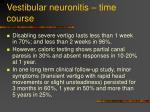 vestibular neuronitis time course