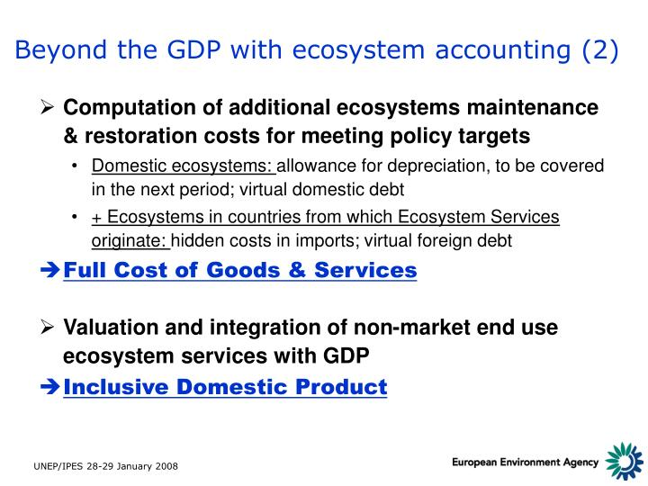 Beyond the GDP with ecosystem accounting (2)