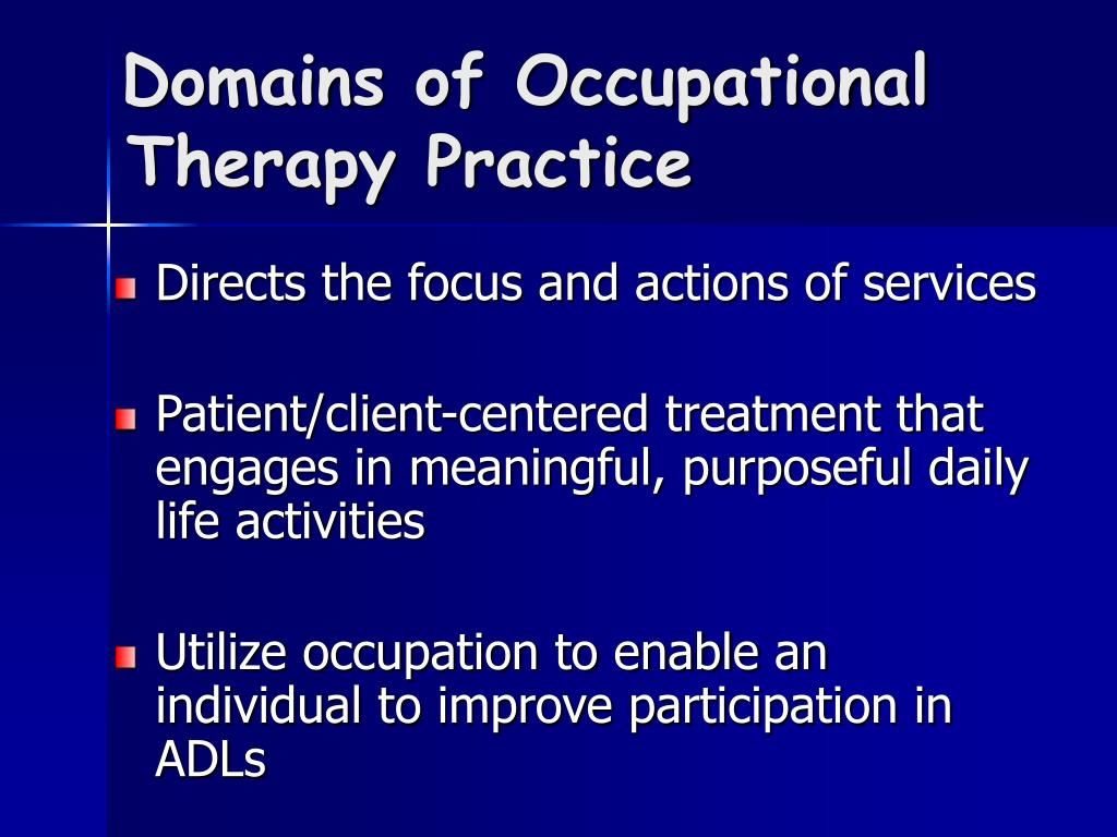 Domains of Occupational