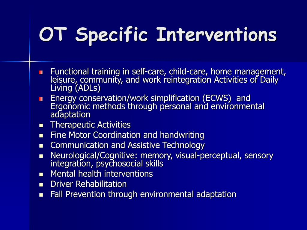 OT Specific Interventions