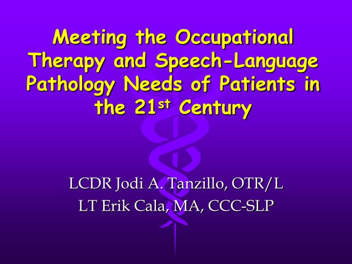 Meeting the Occupational Therapy and Speech-Language Pathology Needs of Patients in the 21