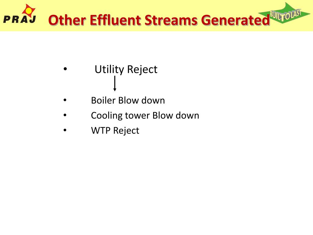 Other Effluent Streams Generated