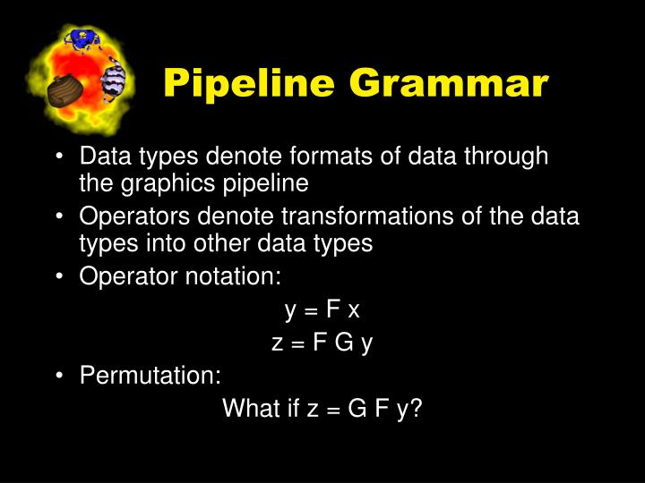 Pipeline Grammar