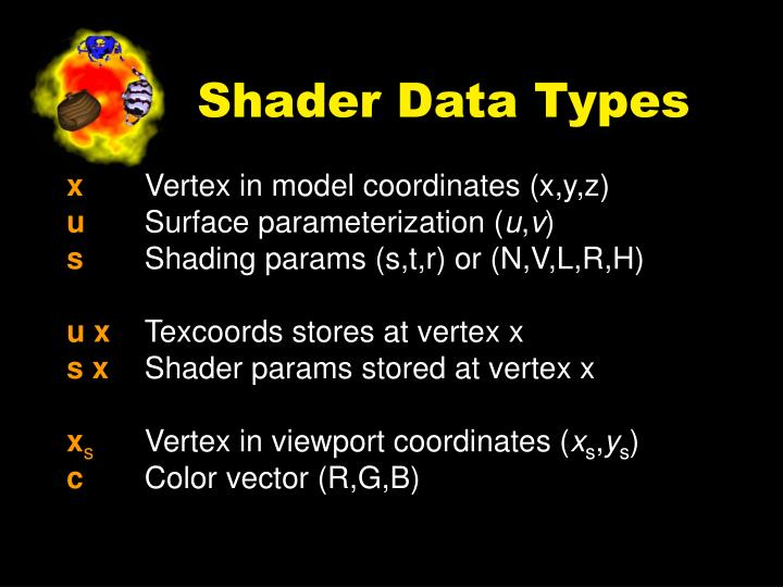 Shader Data Types