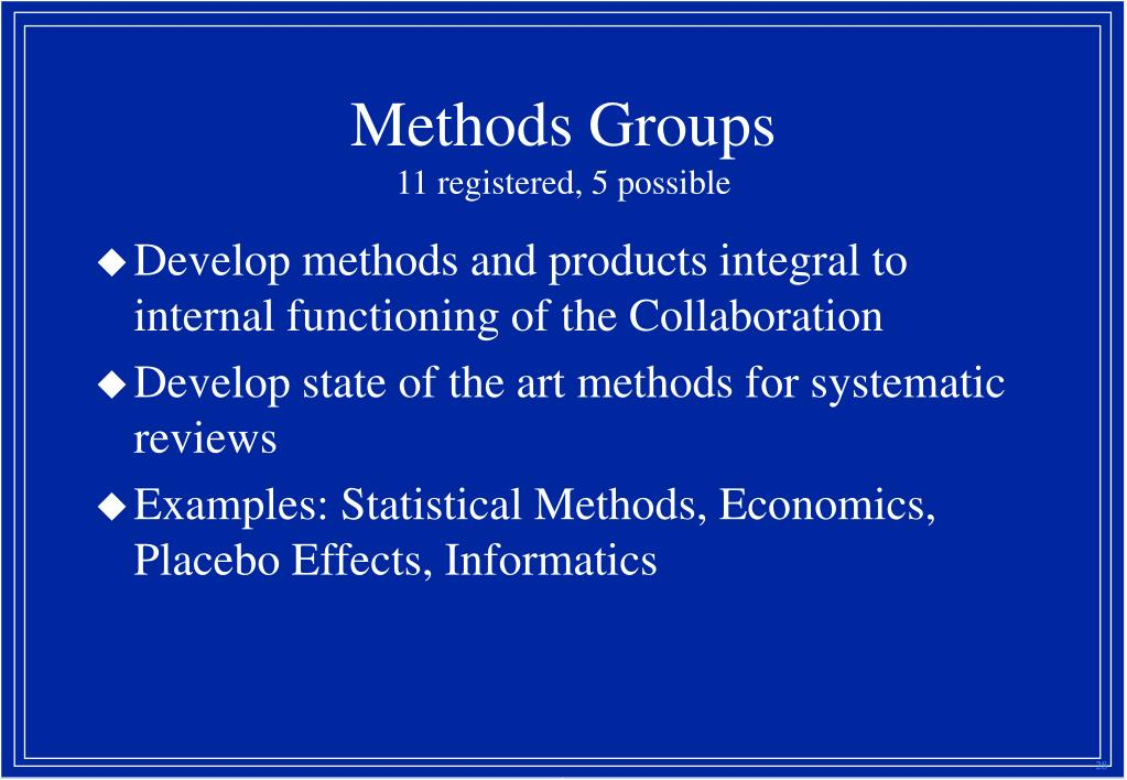 Methods Groups