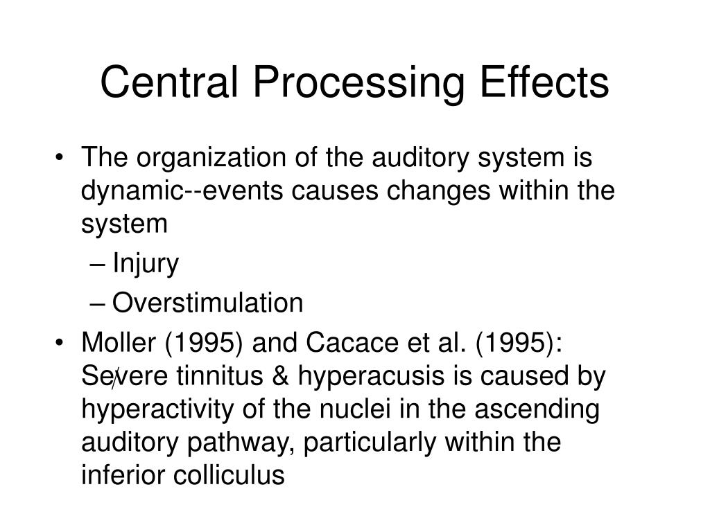 Central Processing Effects