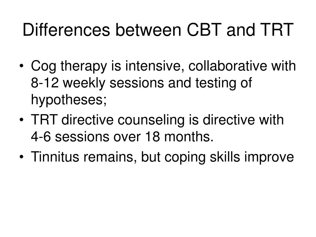 Differences between CBT and TRT