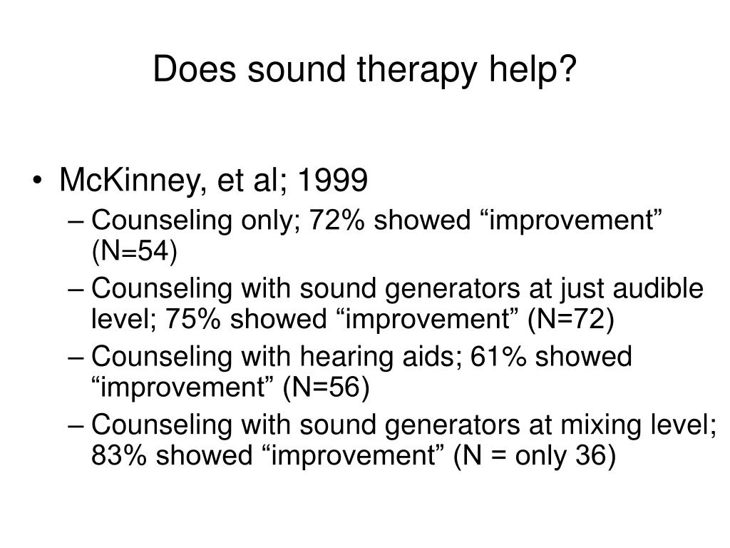 Does sound therapy help?