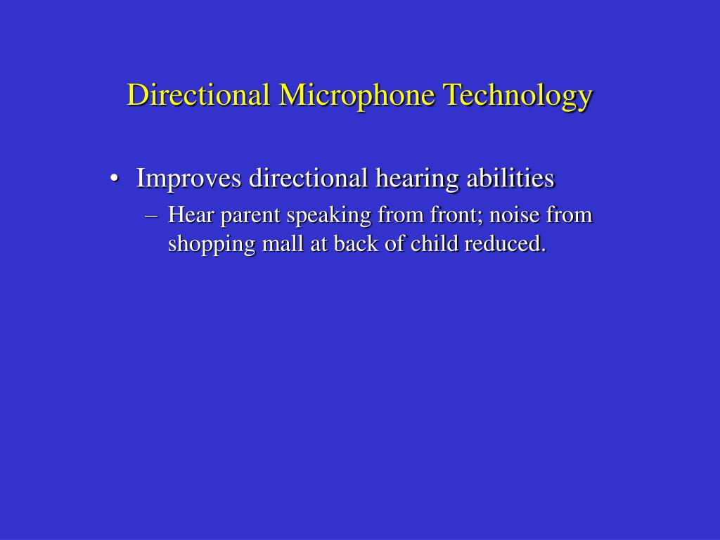 Directional Microphone Technology