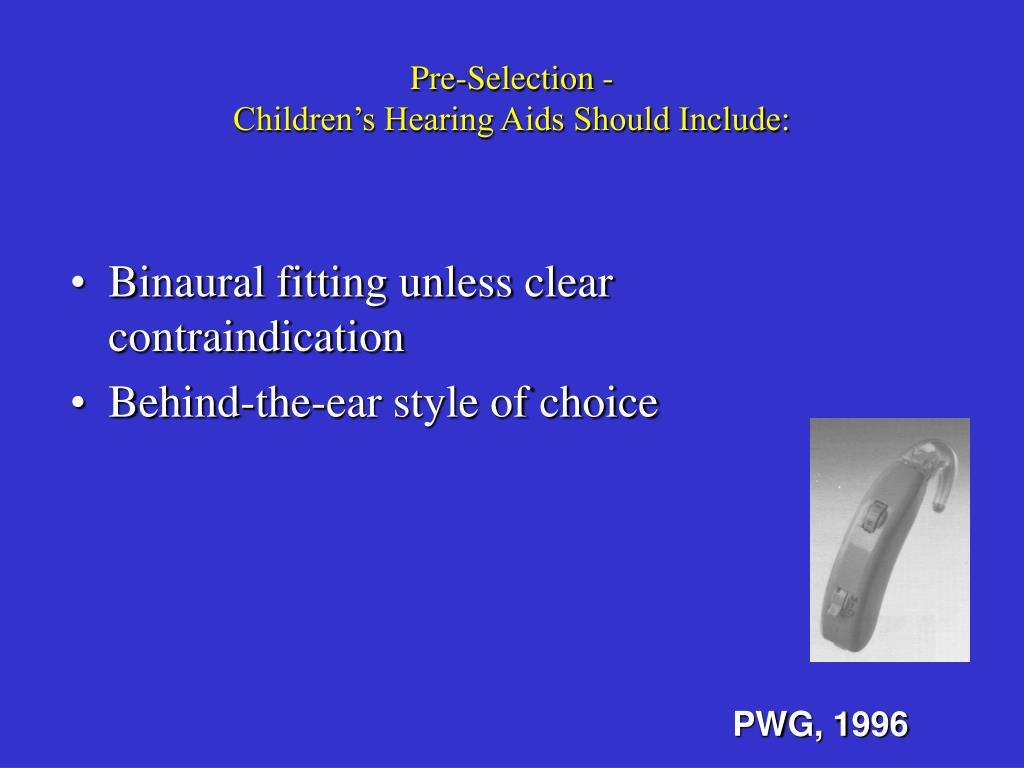 Pre-Selection -