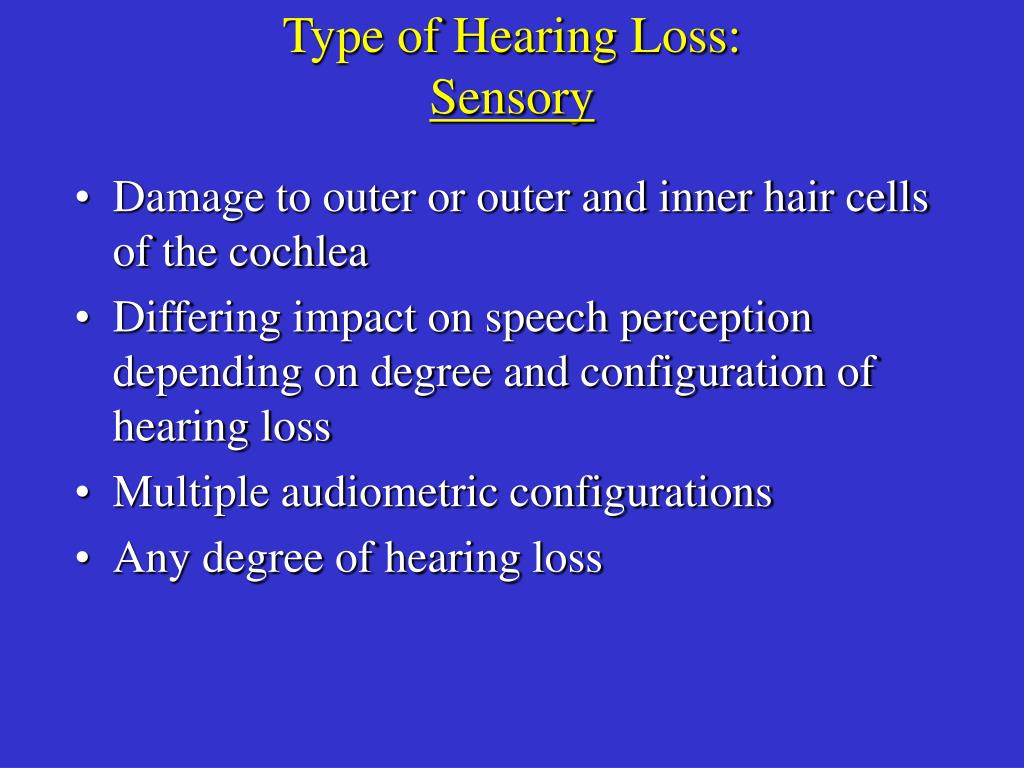 Type of Hearing Loss: