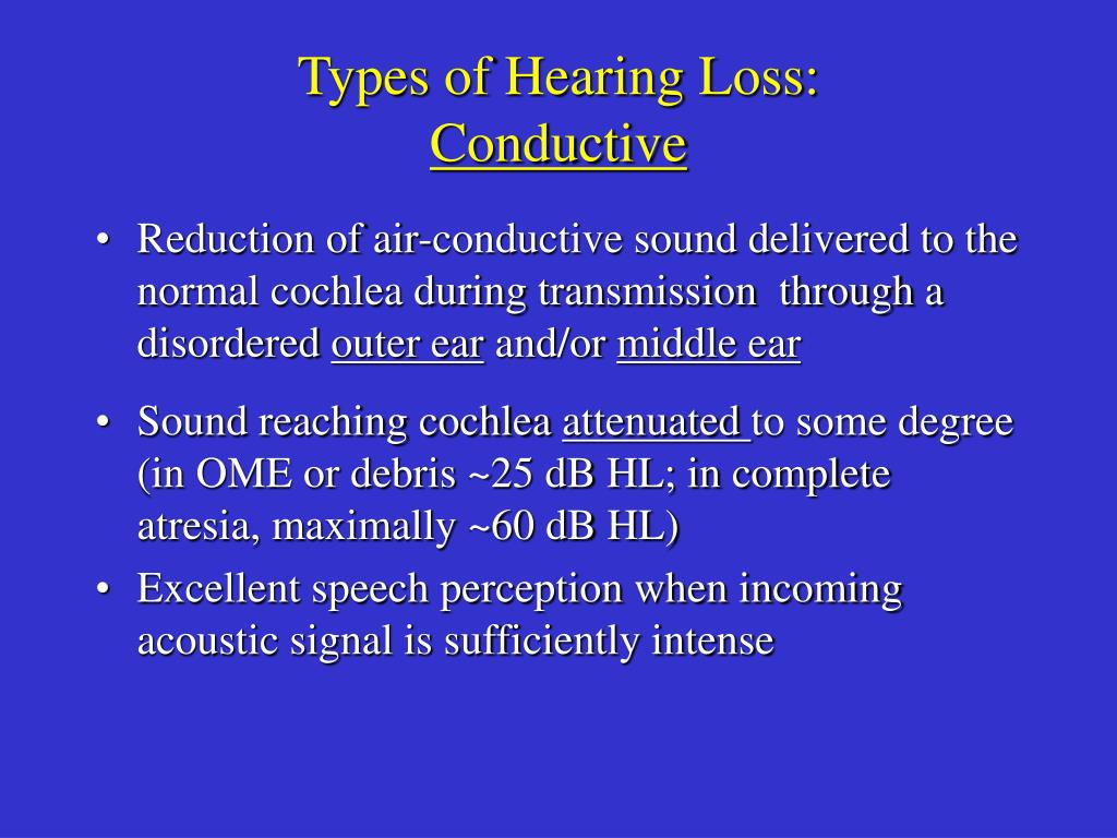 Types of Hearing Loss: