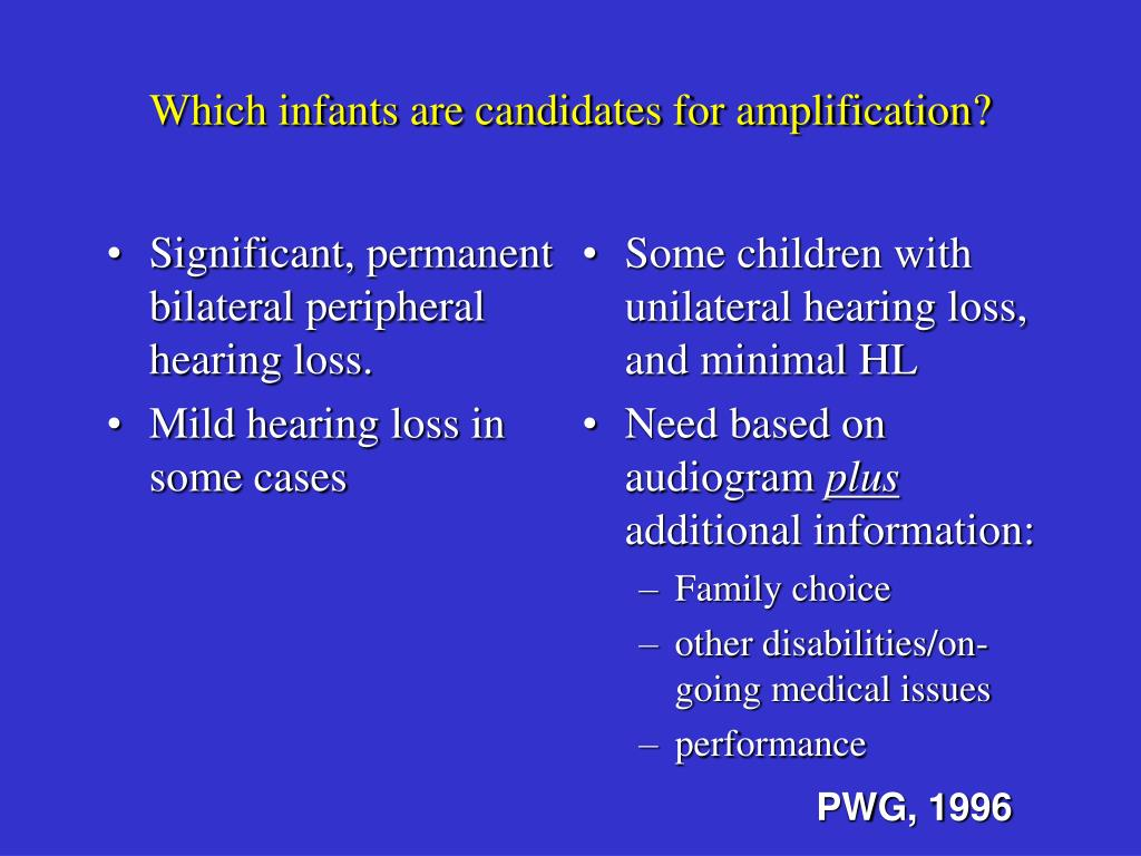 Significant, permanent bilateral peripheral hearing loss.