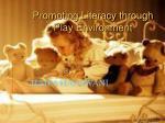 promoting literacy through play environment10